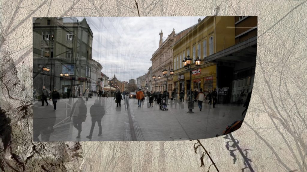 Novi Sad future past still image from On the Margin of History poetry film